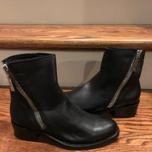 Frye women's black leather ankle boots sz 6 new